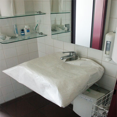 Waschtisch-Schutzhaube